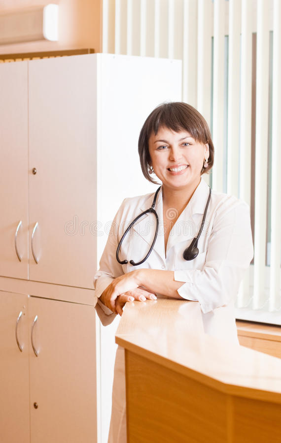Download Doctor woman in the office stock image. Image of clinic - 22269801