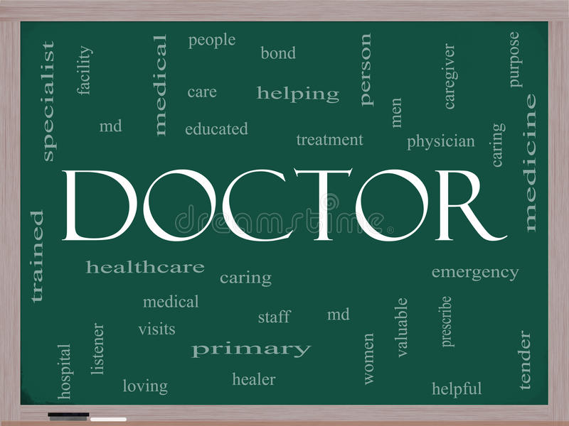 Download Doctor Word Cloud Concept On A Blackboard Stock Illustration - Image: 27563831