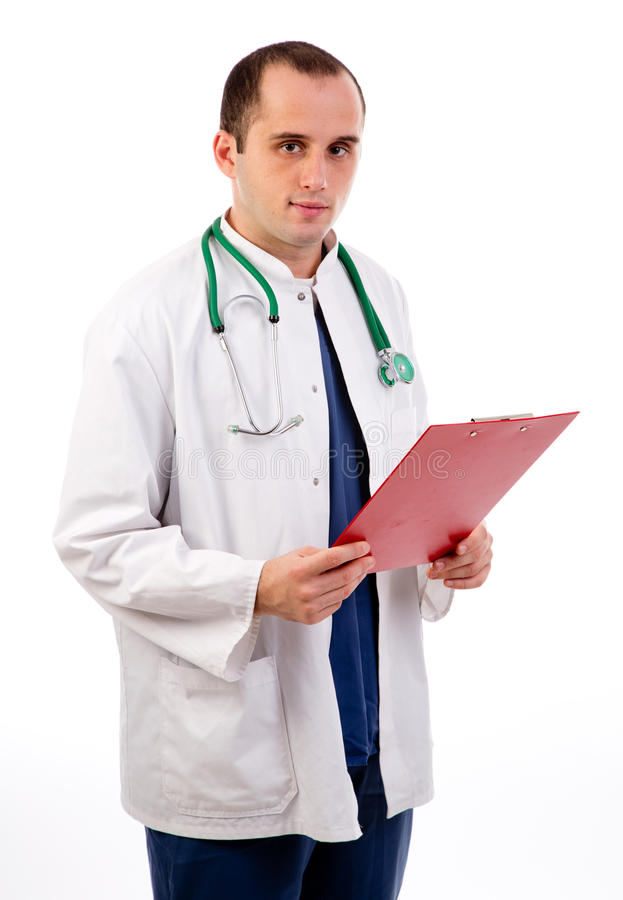Doctor at work stock photography