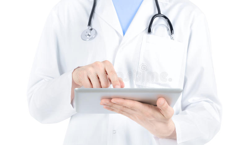 Download Doctor Working With Digital Tablet PC Stock Photo - Image: 24189310
