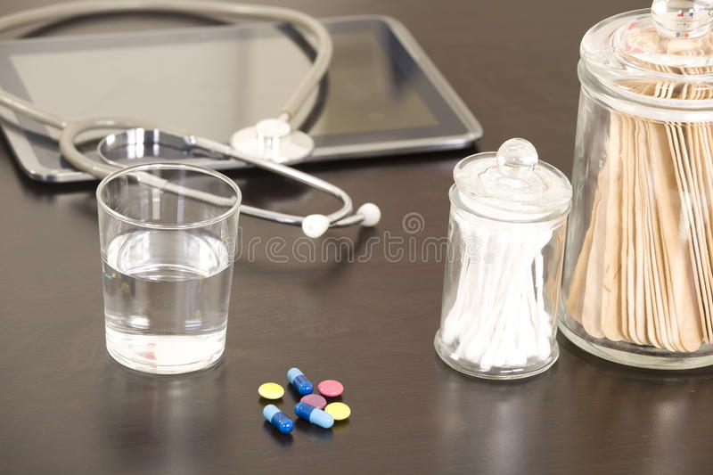 Doctor workplace royalty free stock image
