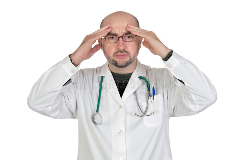Download Doctor With Worried Gesture Stock Image - Image: 12625791