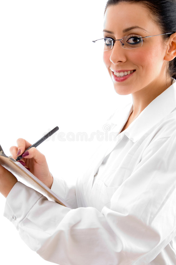 Download Doctor With Writing Pad And Pen Stock Photo - Image: 8277094