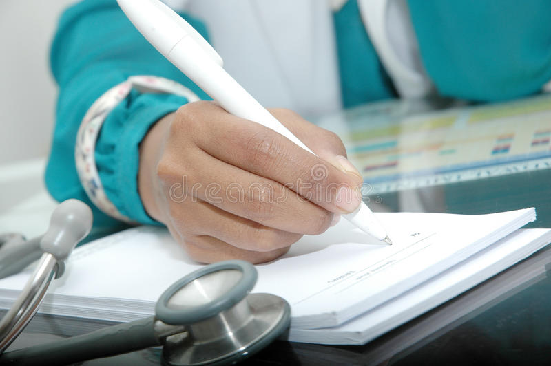Download Doctor Writing A Prescription Stock Photo - Image of equipment, diagnosis: 34438506