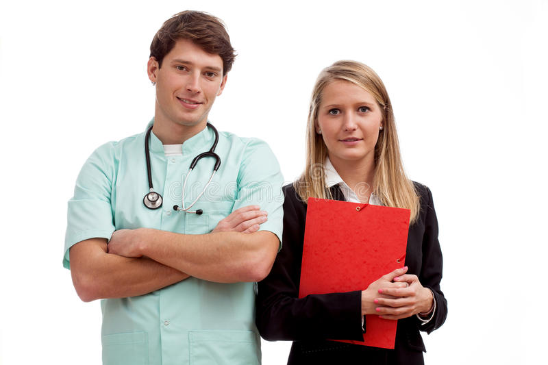 Doctor y ayudante imagen de archivo libre de regalías