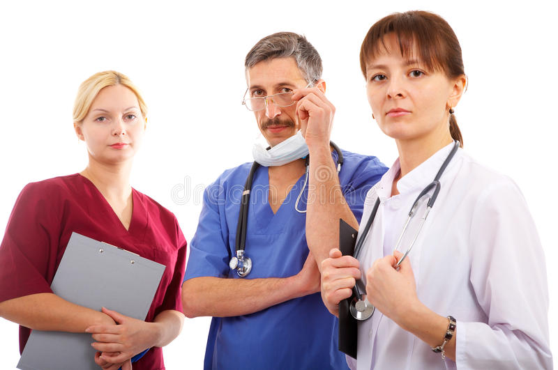 Doctor y enfermera fotografía de archivo