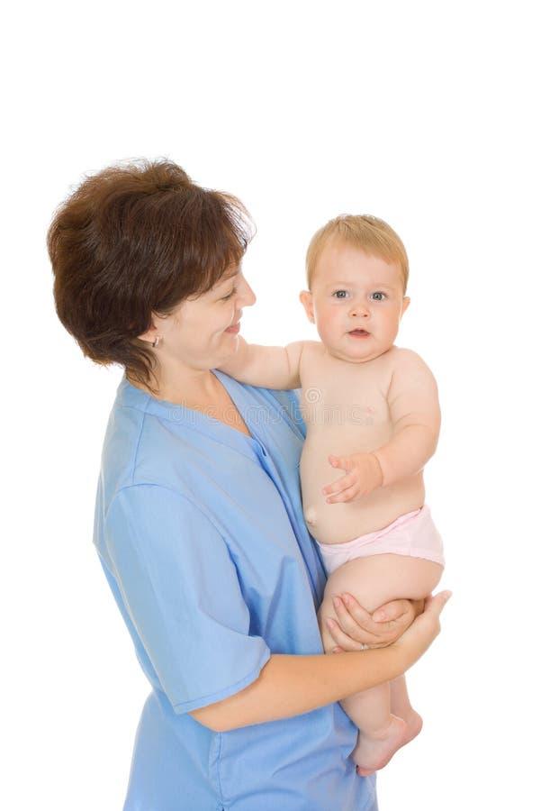 Download Doctor Y Pequeño #10 Aislado Bebé Sonriente Foto de archivo - Imagen de lindo, doctor: 7284608