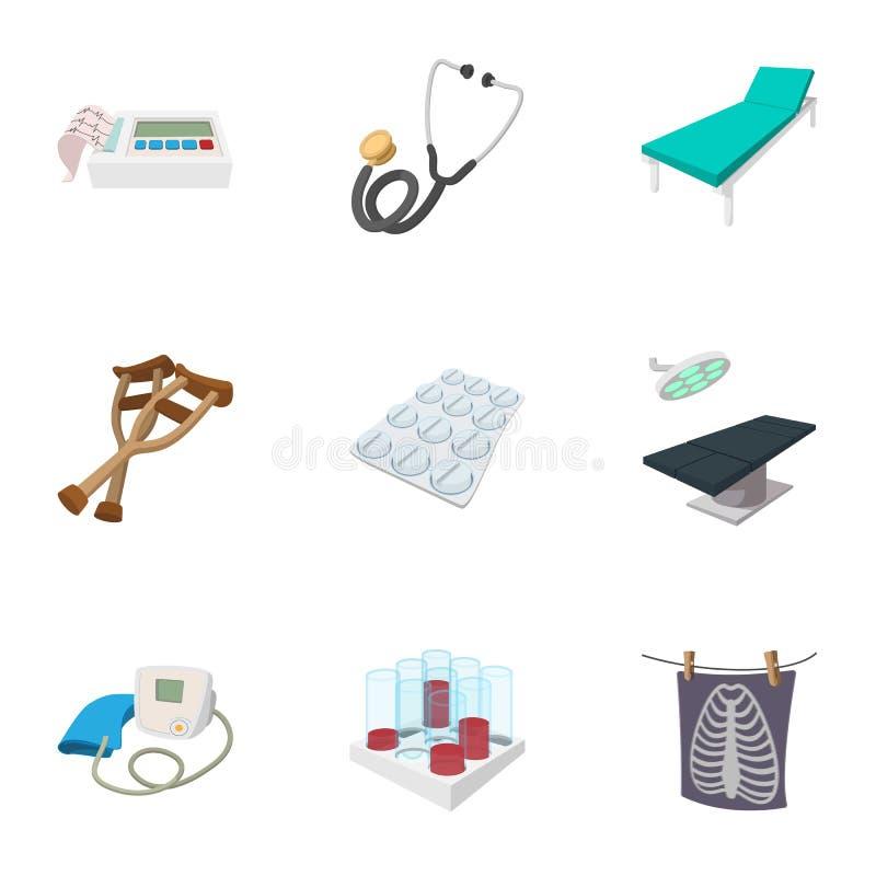 Free Doctoral Icons Set, Cartoon Style Stock Image - 84231131