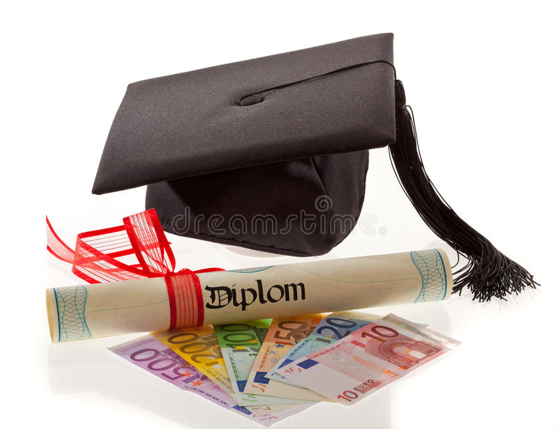 Doctorates Euro. Education Costs Stock Photography