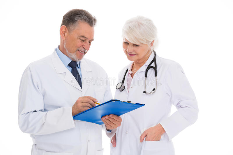 Doctores de sexo masculino y de sexo femenino fotos de archivo libres de regalías
