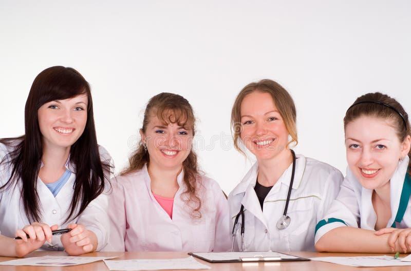 Doctores en conferencia fotos de archivo