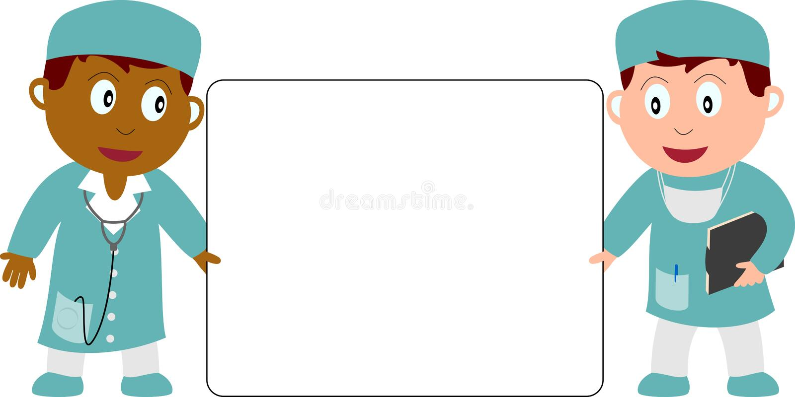 Download Doctors and Banner stock vector. Illustration of happy - 9593109
