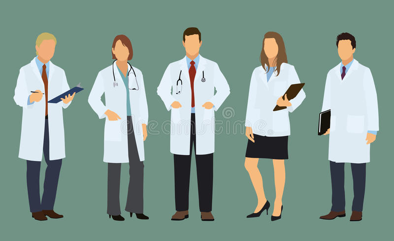 Doctors of Both Sexes vector illustration