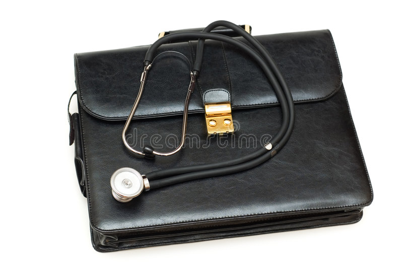 Doctors  Case With Stethoscope Royalty Free Stock Images