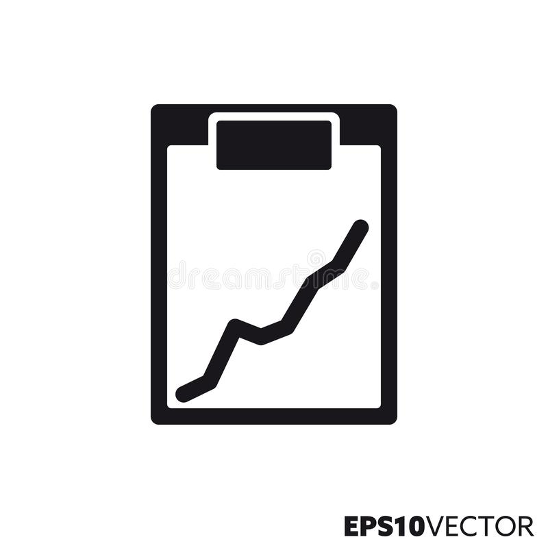 Doctors clipboard with graph vector glyph icon stock illustration