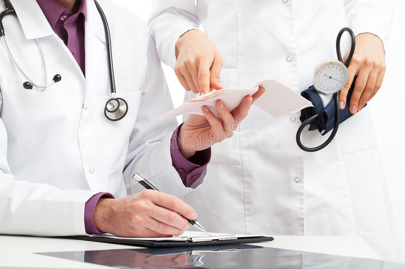 Doctors consultation stock photography