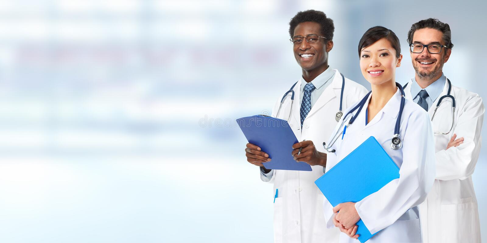 Doctors group. royalty free stock images