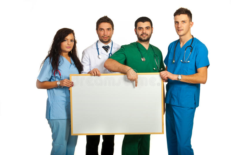 Download Doctors Holding Blank Board Stock Image - Image: 28313659