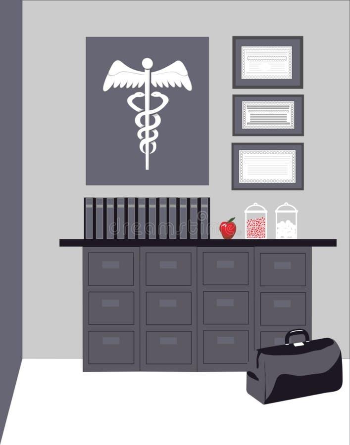 doctors kontoret stock illustrationer