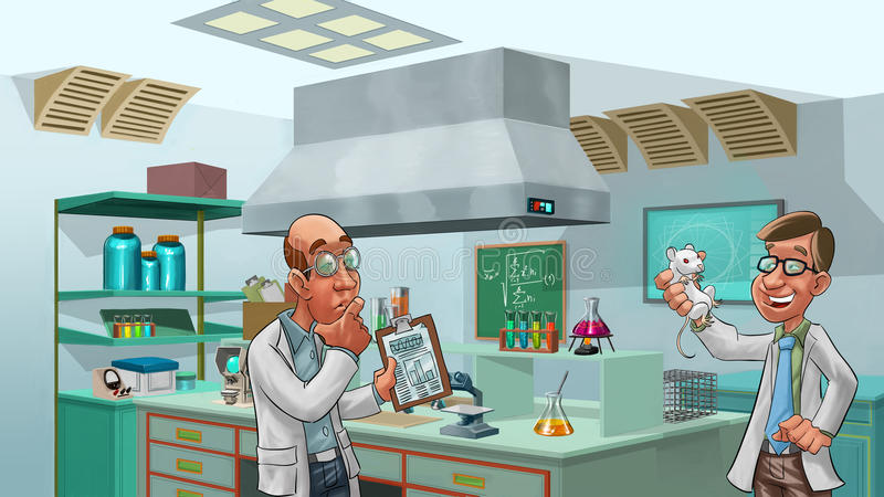 Download Doctors in the lab stock illustration. Image of office - 20448609