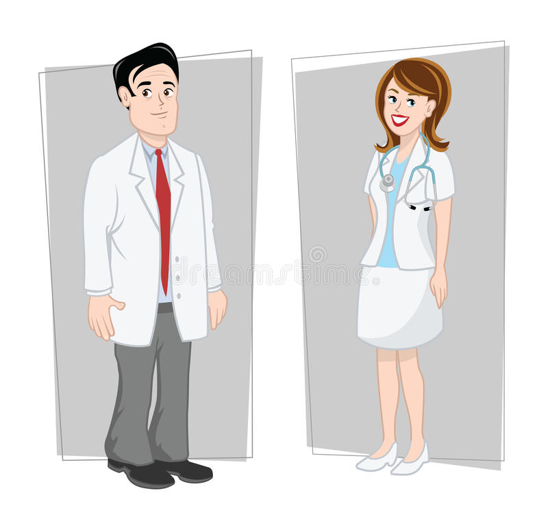 Download Doctors male & female stock vector. Image of profession - 23806983