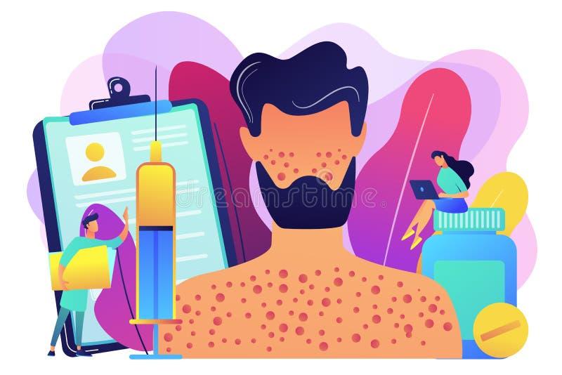 Drug allergy concept vector illustration. royalty free illustration
