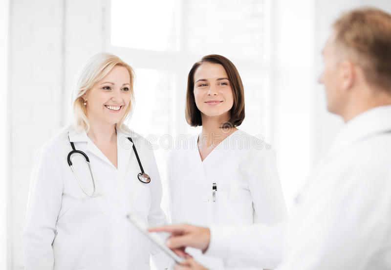 Download Doctors on a meeting stock photo. Image of happy, hospital - 39636716