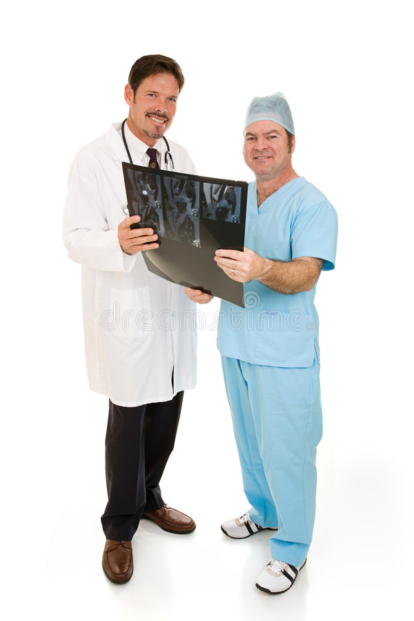Doctors With MRI Full Body Royalty Free Stock Photo