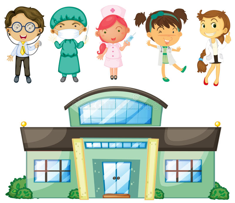Download Doctors And Nurses At The Hospital Stock Vector - Image: 33314665