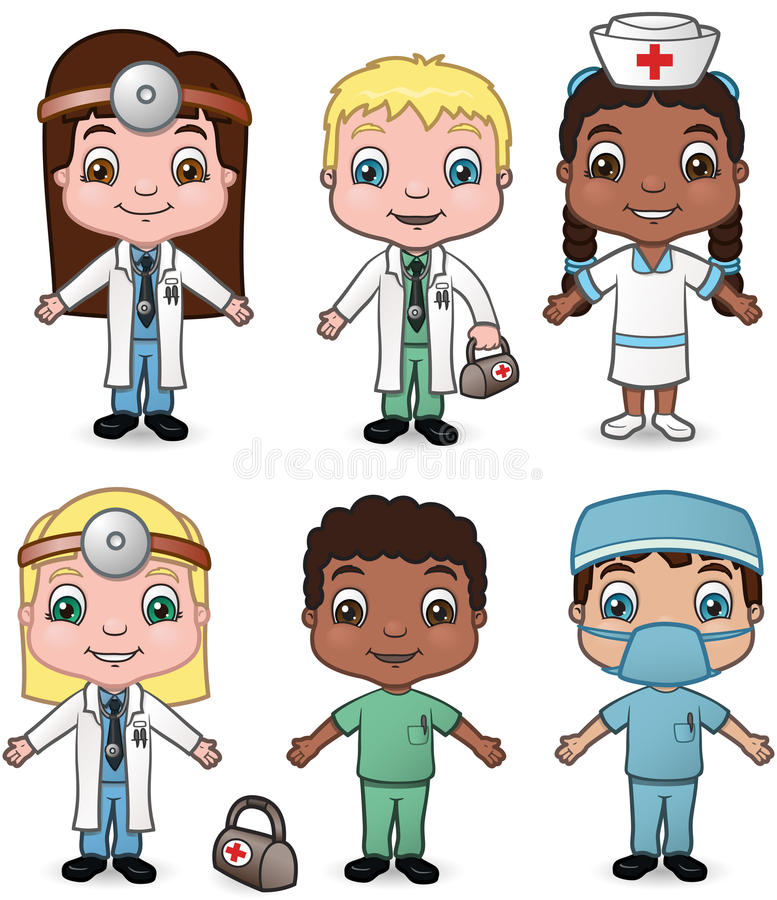 Download Doctors and Nurses set 1 stock vector. Image of stethoscope - 14114072