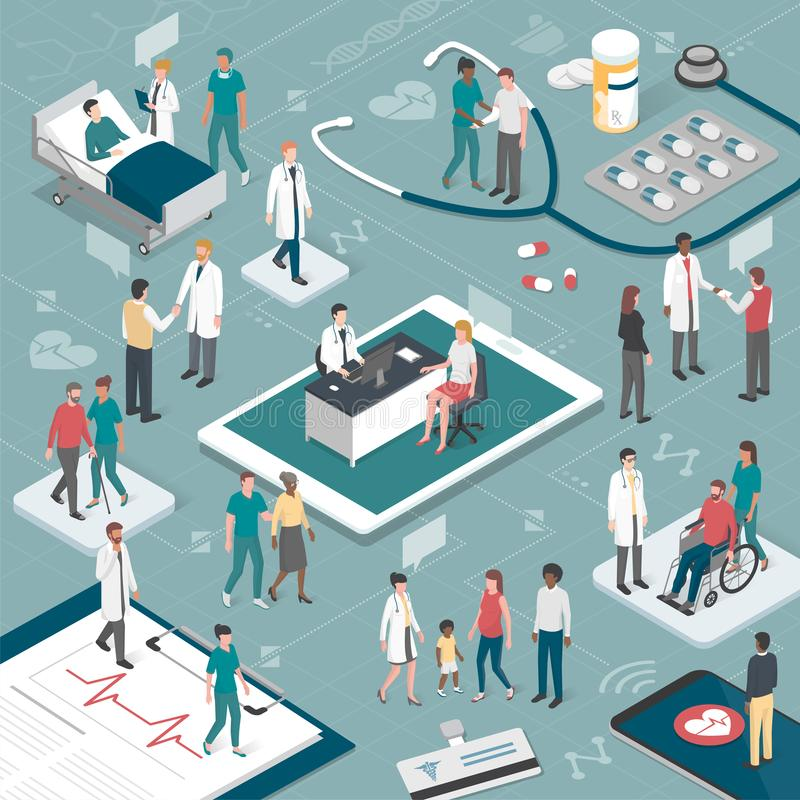 People and healthcare vector illustration