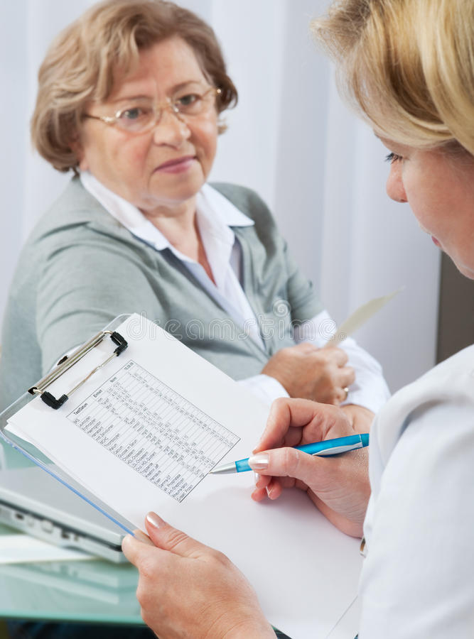 At The Doctors Office Royalty Free Stock Images