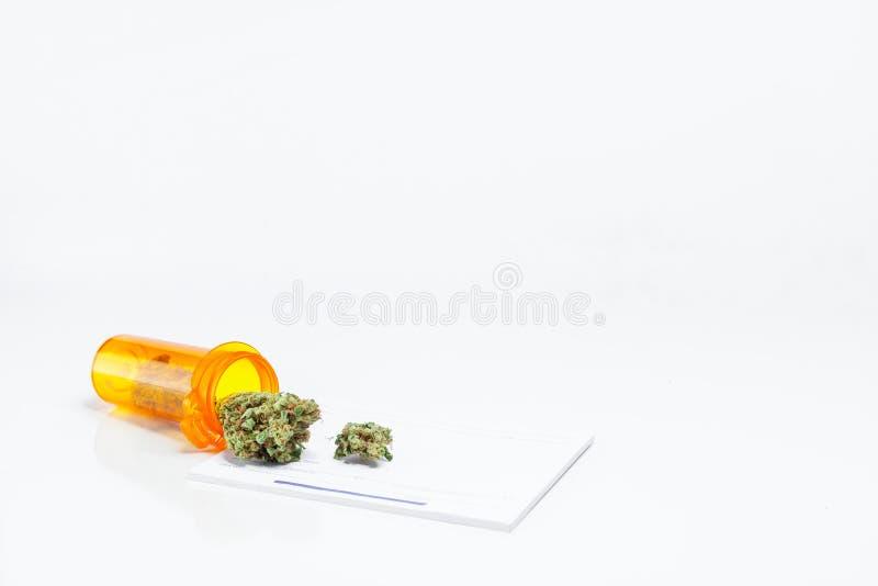 Doctors Prescription Bottle Of Medical Marijuana Weed Cannabis P stock photos