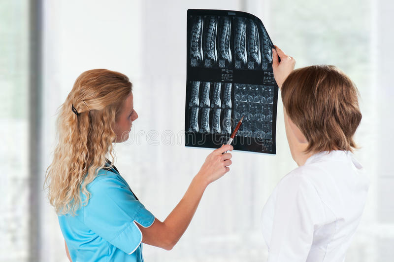 Download Doctors with x-ray stock image. Image of nurse, female - 18898071