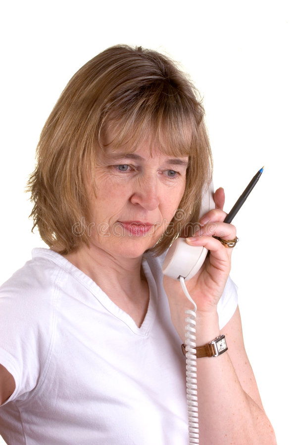 Doctors Receptionist. On The Phone royalty free stock images