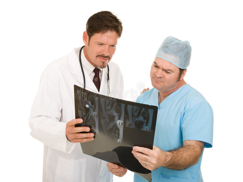 Doctors Review MRI Results stock images