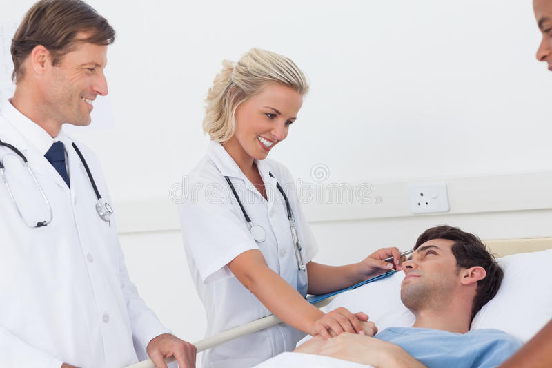 Download Doctors Speaking To A Patient Stock Image - Image: 31239829