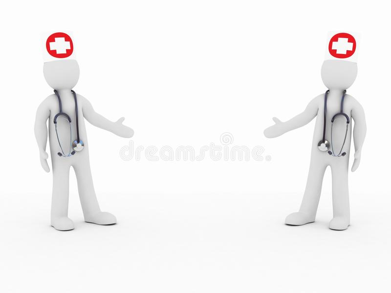Download The Doctors And Stethoscope Stock Illustration - Image: 22913581