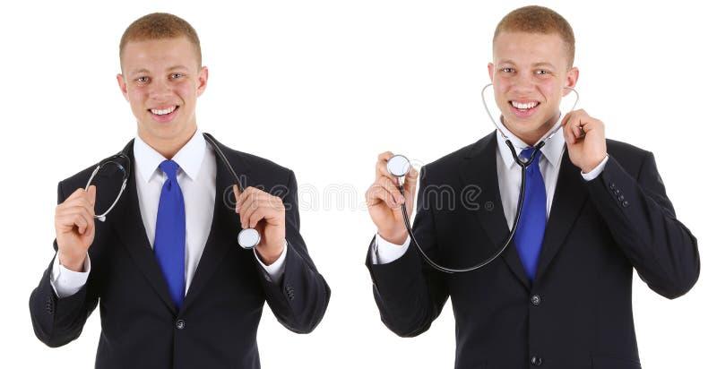 doctors stetoskop två arkivfoto