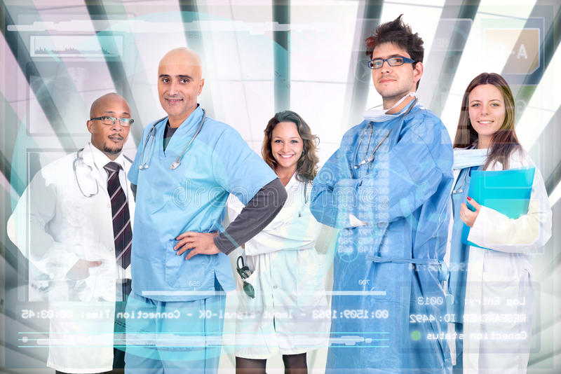 Doctors team stock photography