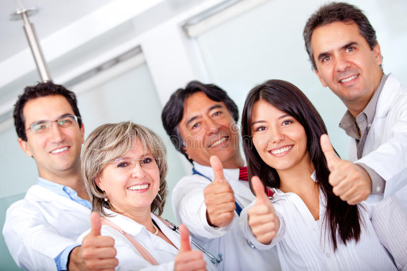 Download Doctors with thumbs up stock photo. Image of girls, friendly - 22886648