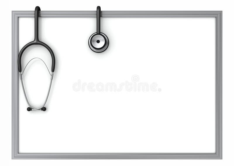 Doctors whiteboard vector illustration