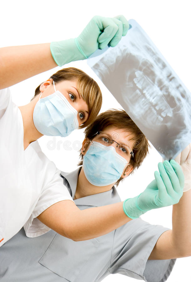 Doctors With X-ray Royalty Free Stock Images