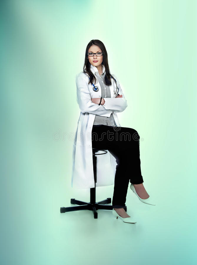 Doctress foto de stock