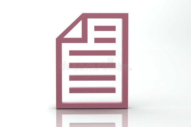 Download Document stock illustration. Image of mark, symbol, paper - 23568942