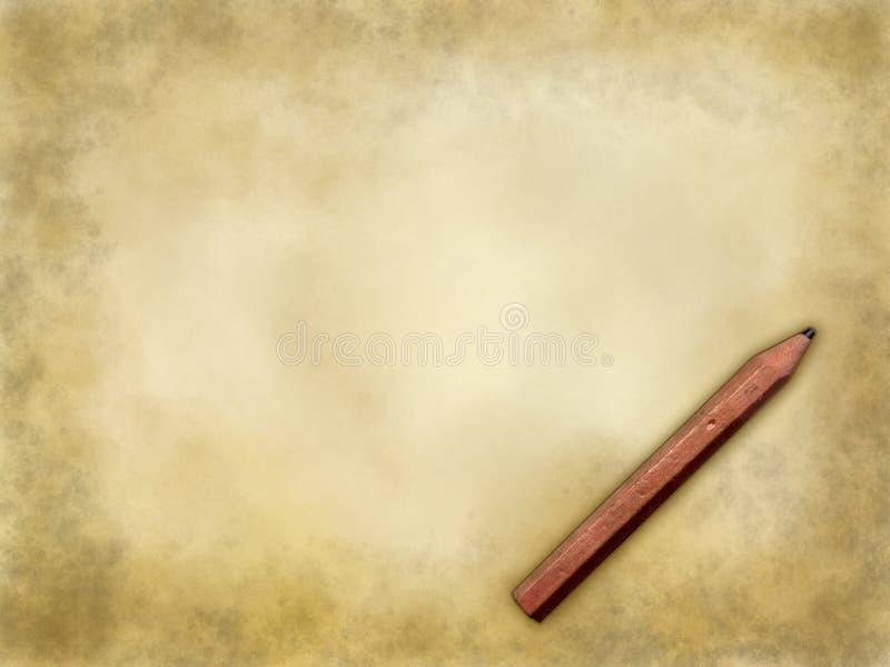 Document achtergrond met potlood stock foto