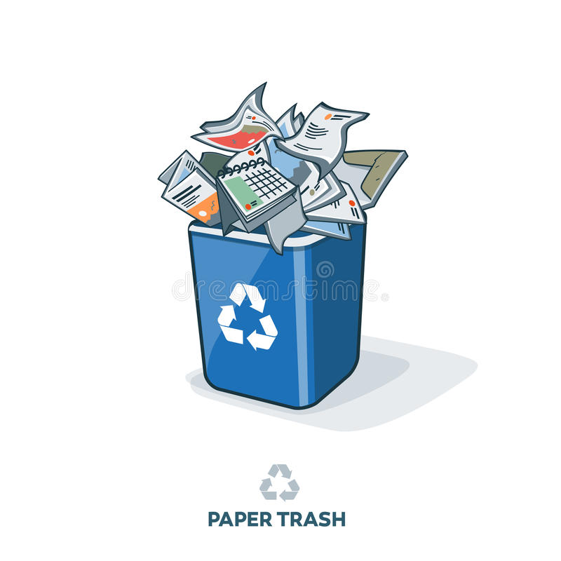 Download Document Afval In Het Recycling Van Bak Vector Illustratie - Illustratie bestaande uit pictogram, illustratie: 54079345