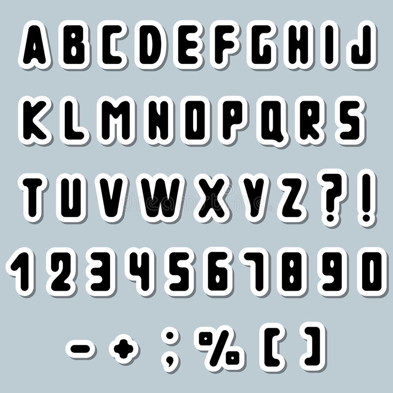 Document alfabet royalty-vrije illustratie