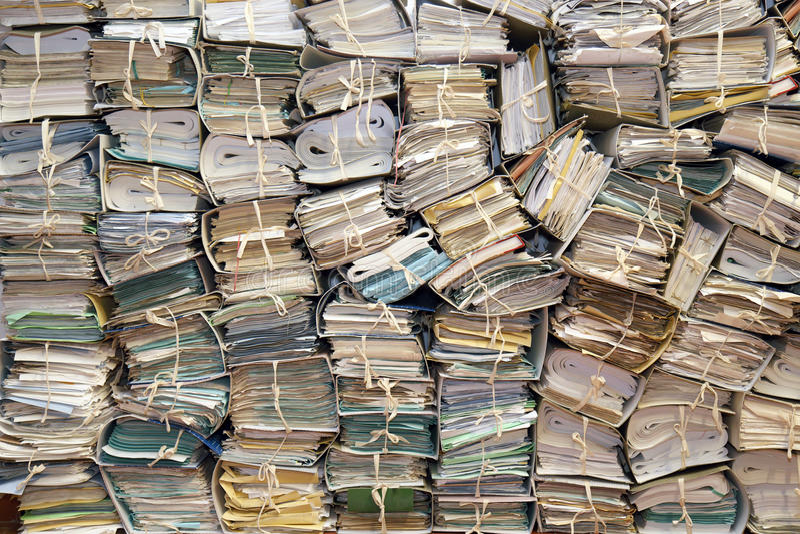 Document archief # 2 royalty-vrije stock afbeelding