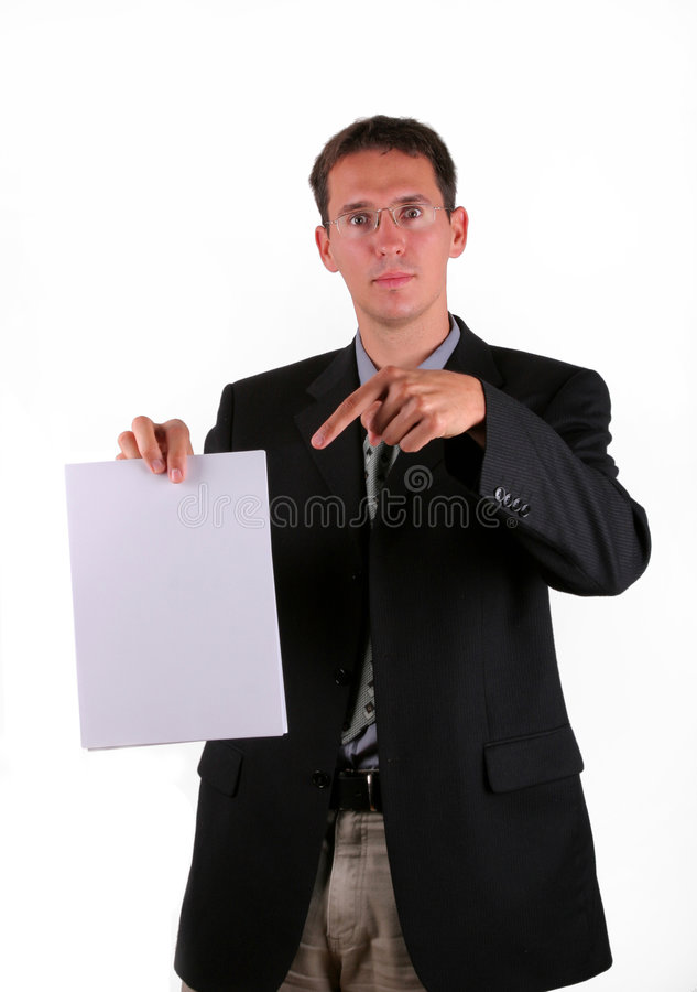 Document as proof stock photography
